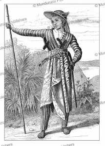Javanese warrior, after Raffles, Jules Verne, 1870 | Photos and Images | Travel