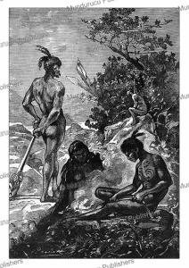 natives of new zealand, le´on benett, 1870