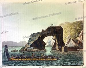 maori war-boat, g. castellini, 1815