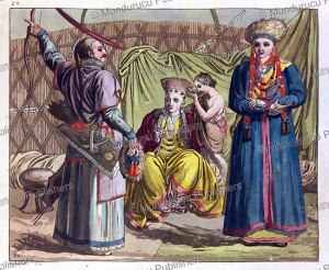 buryats, mongolia, c. bottigella, 1818