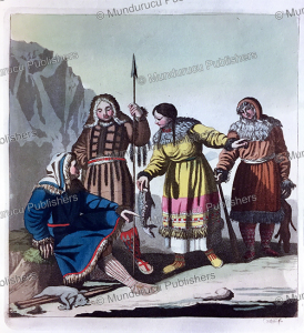koryaks from kamchatka, f. castelli, 1818