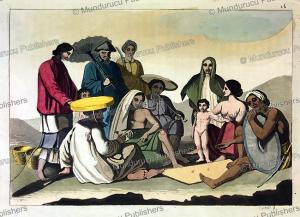 group of people in vietnam, f. castelli, 1815