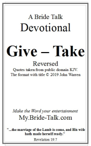 give take devotional