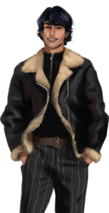 visual novel sprite: male big smile