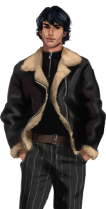 visual novel sprite: male small smile