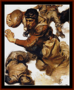 the tackle - leyendecker cross stitch pattern by cross stitch collectibles