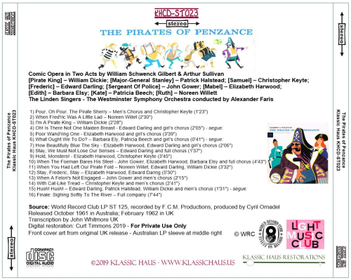 First Additional product image for - The Pirates of Penzance