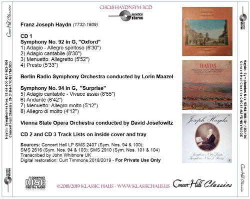 First Additional product image for - Haydn: Symphonies Nos. 92-94-100-101-103-104