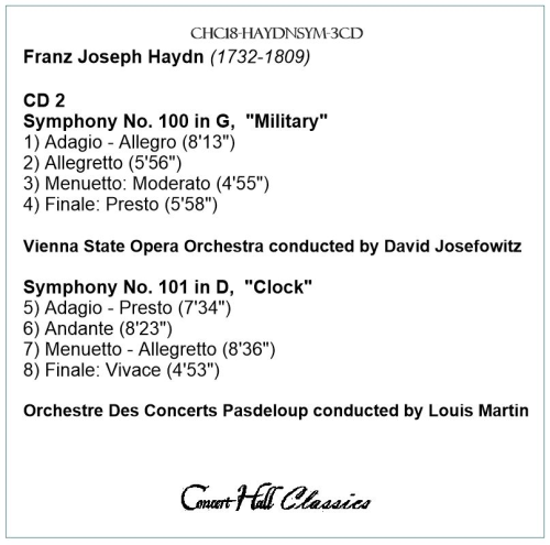 Second Additional product image for - Haydn: Symphonies Nos. 92-94-100-101-103-104
