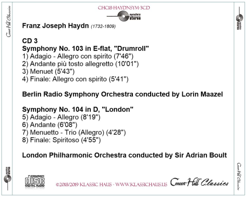 Third Additional product image for - Haydn: Symphonies Nos. 92-94-100-101-103-104