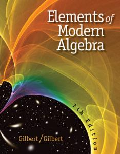 elements of modern algebra - gilbert