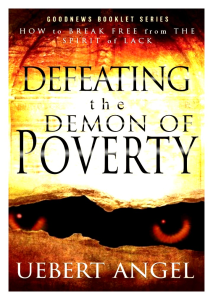 defeating the demon of poverty by uebert angel