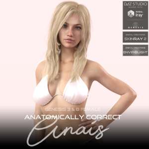 Anatomically Correct: Anais for Genesis 3 and Genesis 8 Female | Software | Design