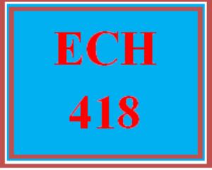 ECH 418 Wk 2 Discussion - Child Care | eBooks | Education