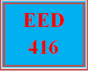 EED 416 All Discussions | eBooks | Education