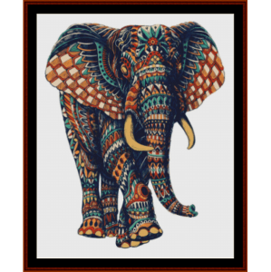 elephant mandala vii cross stitch pattern by cross stitch collectibles