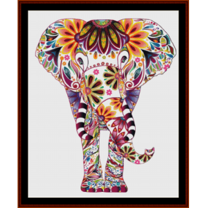 elephant mandala viii cross stitch pattern by cross stitch collectibles