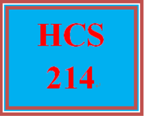HCS 214 Wk 4 Discussion Board | eBooks | Education