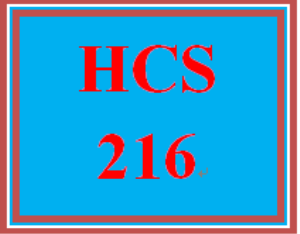 HCS 216 Wk 3 Discussion Board | eBooks | Education