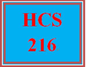 HCS 216 Wk 4 Discussion Board | eBooks | Education