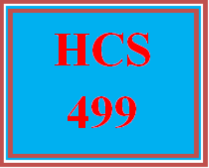 hcs 499 all discussions