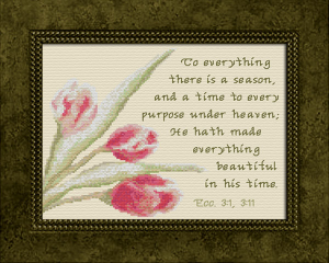 Beautiful In His Time | Crafting | Cross-Stitch | Religious
