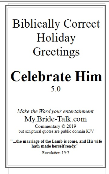 First Additional product image for - Celebrate Him - a biblically correct holiday greeting card