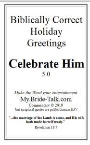 celebrate him - a biblically correct holiday greeting card