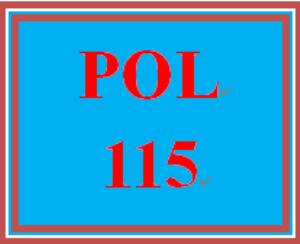 POL 115 Wk 1 Discussion | eBooks | Education