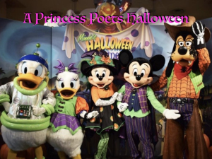 a princess poets halloween