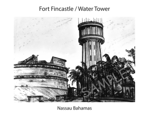 fort fincastle/water tower 16x20