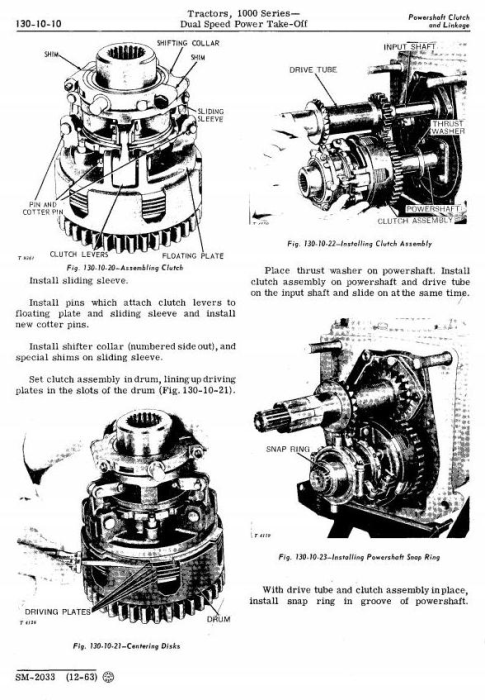 Third Additional product image for - John Deere 1010, 1010RS, 1010RU, 1010RUS, 1010O, 1010U, 1010R Tractors Technical Service Manual (sm2033)