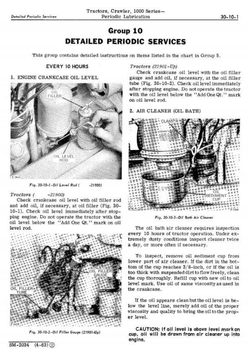 Third Additional product image for - John Deere 1010 Crawler Tractors Technical Service Manual (sm2034)