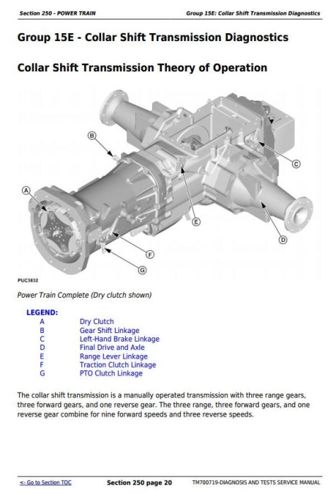 Second Additional product image for - John Deere 904, 1054, 1204, 1354 China Tractors Diagnosic and Tests Service Manual (TM700719)