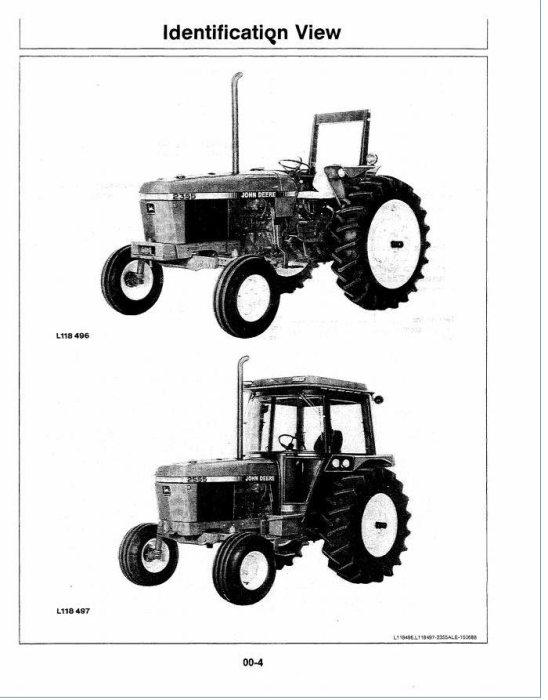 Fourth Additional product image for - John Deere 2355, 2555 Tractors (SN. from 730 000 L) Operators Manual (oml64483)