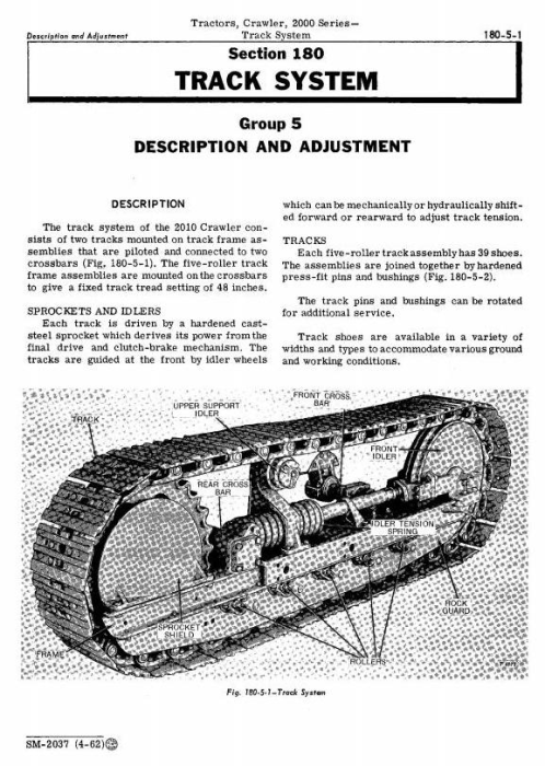 Fourth Additional product image for - John Deere 2010 Crawler Tractors Service Technical Manual (sm2037)