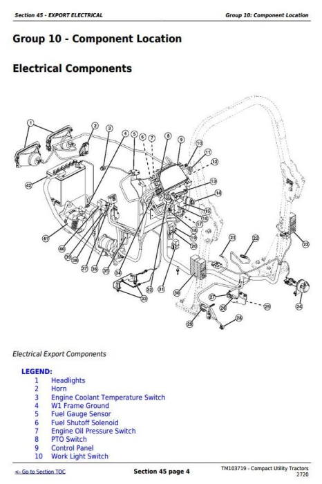 Third Additional product image for - John Deere 2720 Compact Utility Tractors Technical Manual (TM103719)