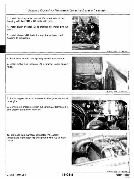 Second Additional product image for - John Deere 2000, 2100, 2200, 2300, 2400 Tractors Technical Service Manual (tm1563)