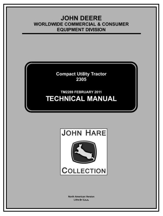 First Additional product image for - John Deere 2305 Compact Utility Tractors (SN. 120001-) Technical Service Manual (tm2289)