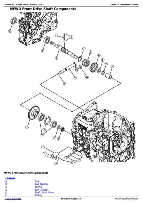 Fourth Additional product image for - John Deere 2320 Compact Utility Tractor Test and Adjustments Technical Manual (TM2388)