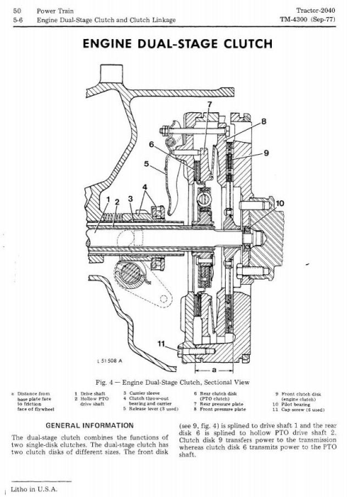 Second Additional product image for - John Deere 2040 Utility Tractors (SN. 010001-349999) Technical Service Manual (tm4300)
