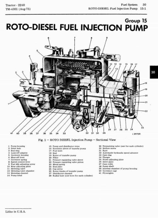 Second Additional product image for - John Deere 2240 Utility Tractors Technical Service Manual (tm4301)