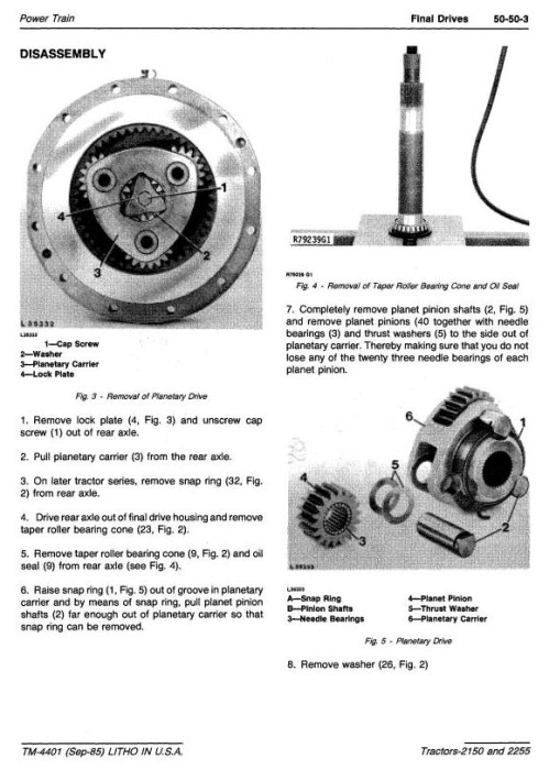 Fourth Additional product image for - John Deere 2150, 2255 Tractors Diagnostic and Repair Technical Manual (tm4401)