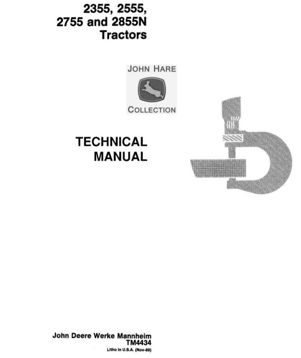 First Additional product image for - John Deere 2355, 2555, 2755, 2855N Tractors Service Repair Manual (tm4434)