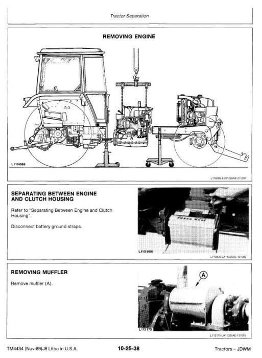 Second Additional product image for - John Deere 2355, 2555, 2755, 2855N Tractors Service Repair Manual (tm4434)