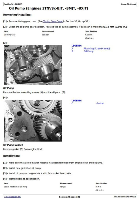 Second Additional product image for - John Deere 3120, 3320, 3520, 3720 Compact Utility Tractors Diagnostic & Repair Technical Manual (TM2138)