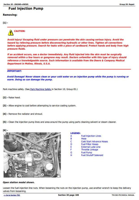 Second Additional product image for - John Deere Compact Utility Tractors 3320, 3520, 3720 Series w.Cab Technical Service Manual (TM2365)