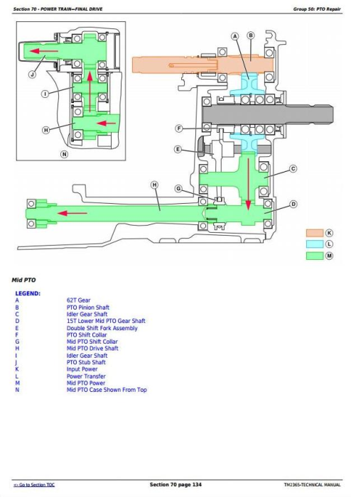 Fourth Additional product image for - John Deere Compact Utility Tractors 3320, 3520, 3720 Series w.Cab Technical Service Manual (TM2365)