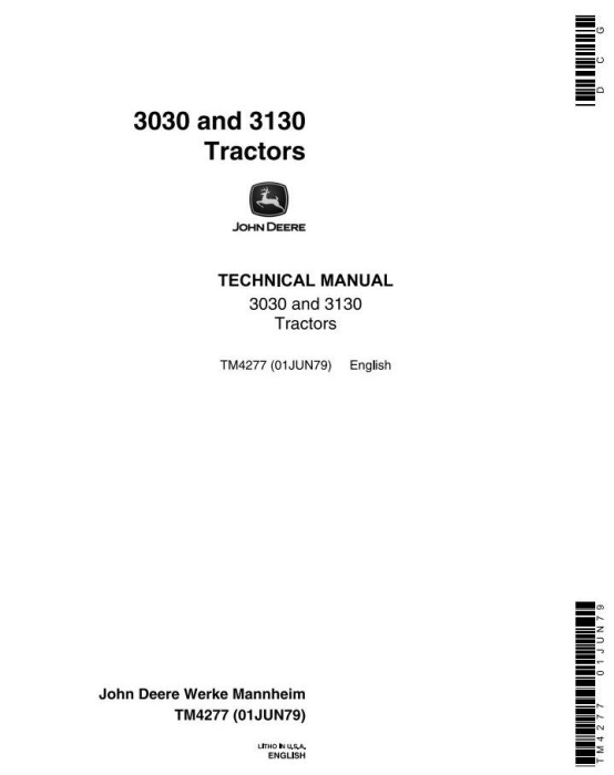 First Additional product image for - John Deere 3030, 3130 Tractors All Inclusive Technical Service Manual (tm4277)