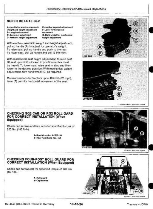 Second Additional product image for - John Deere 3050, 3350, 3650 Tractors Service Repair Technical Manual (tm4443)